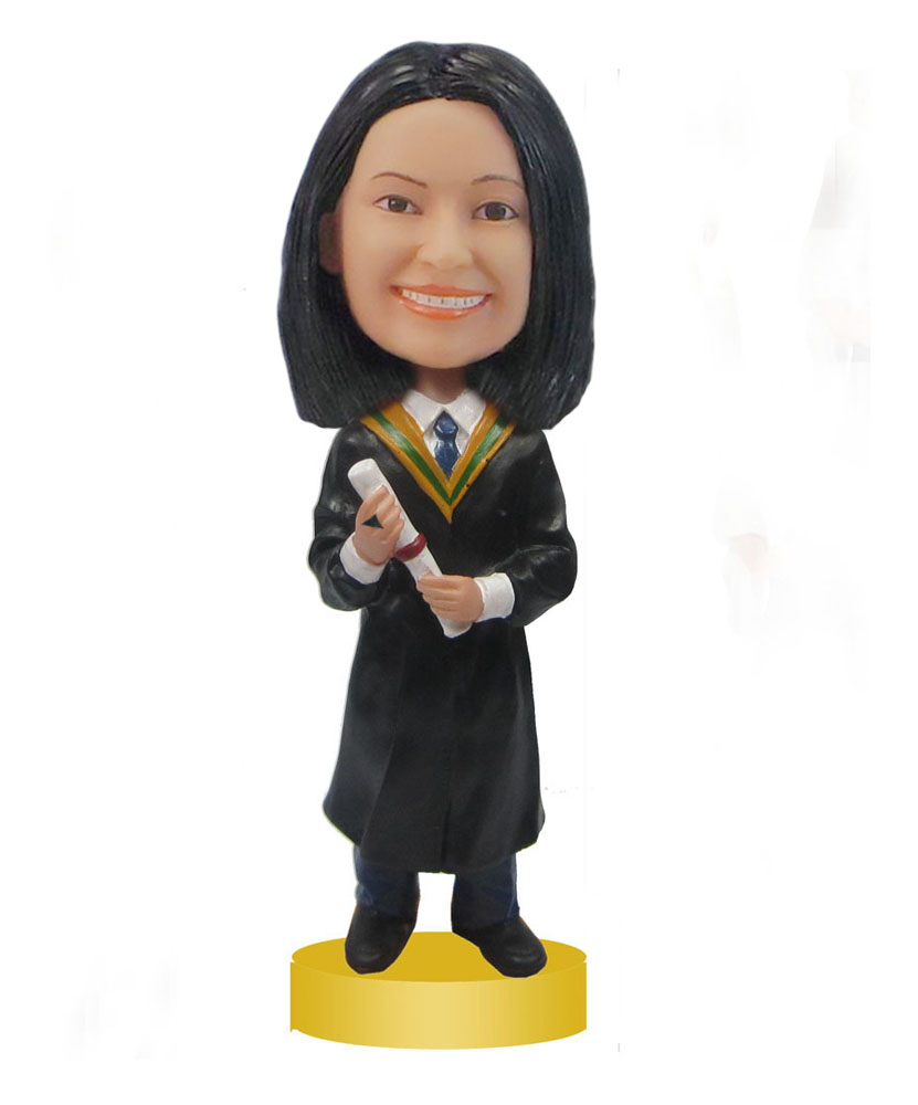 Female Graduation bobble heads pictures of bobbleheads