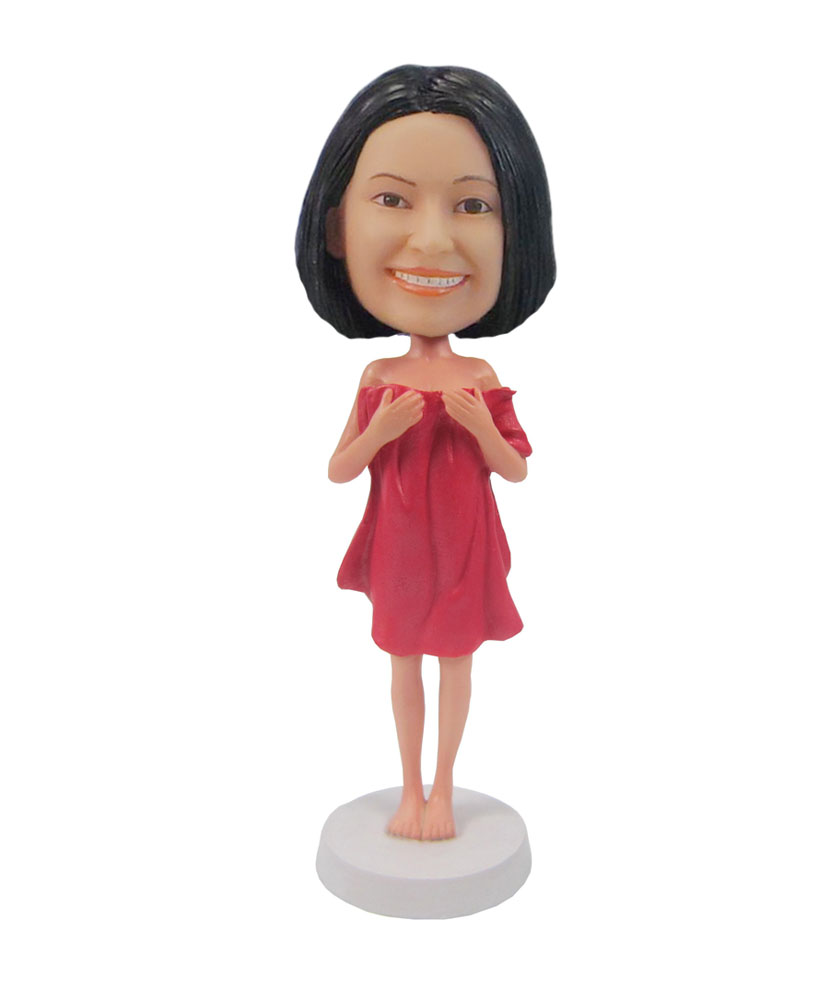 Shy Female bobblehead doll customized bobble heads