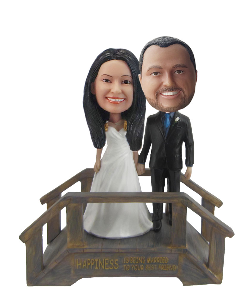 Personalized Custom Suburbs Wedding Bobbleheads W309