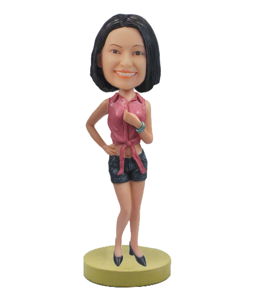 Daisy duke woman bobblehead doll F61
