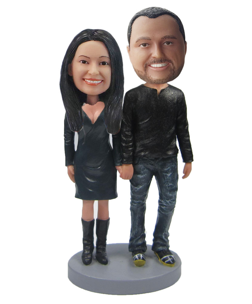 Personalized Custom Sweet Couple Bobble Heads W349