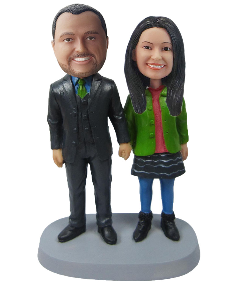 Personalized Custom Bobblehead Of Couple