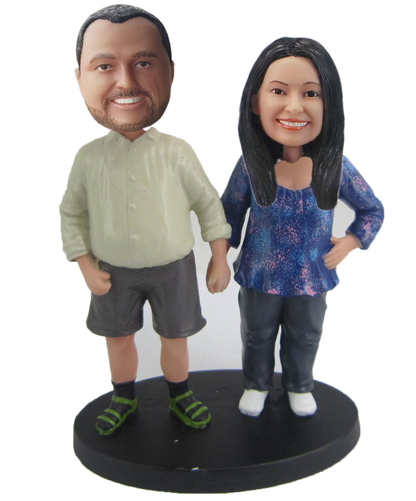 The Pair Of Husband And Wife Custom Bobbleheads W439