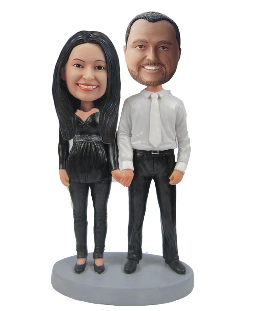 Custom Dad And Mom Bobbleheads W570