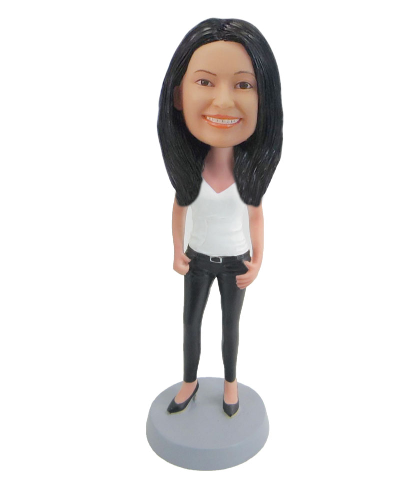 Female leisure doll create your own bobblehead F58