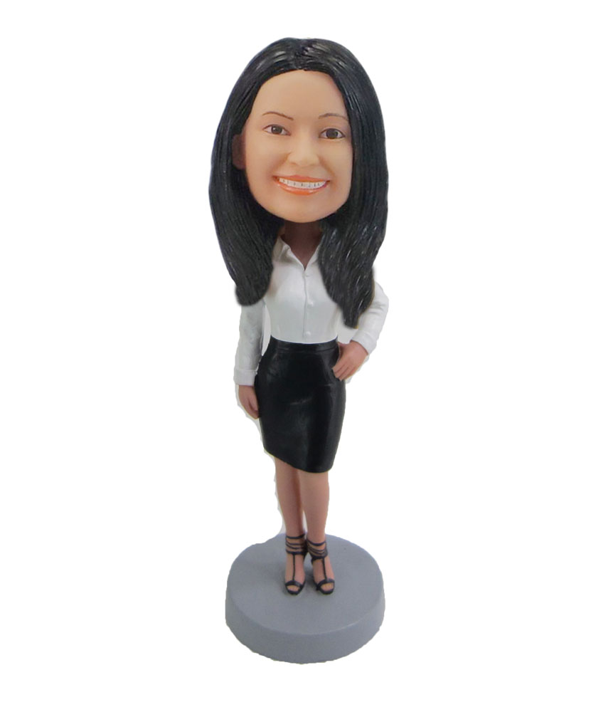 Custom made Offcie lady bobbleheads F59