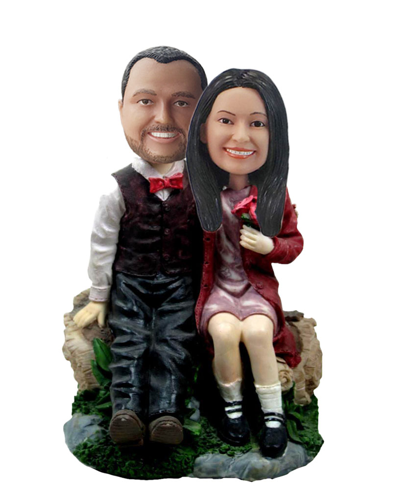 Custom Sweet Couple Bobble Heads W582