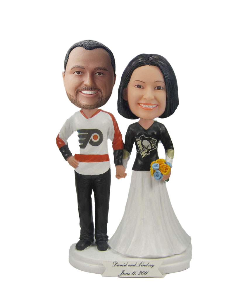 Baseball fan Wedding Bobbleheads W592