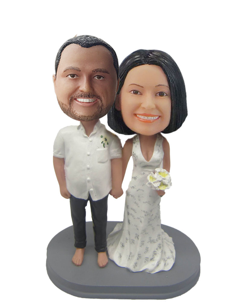 Casual Post Wedding Couple bobblehead Doll  W617