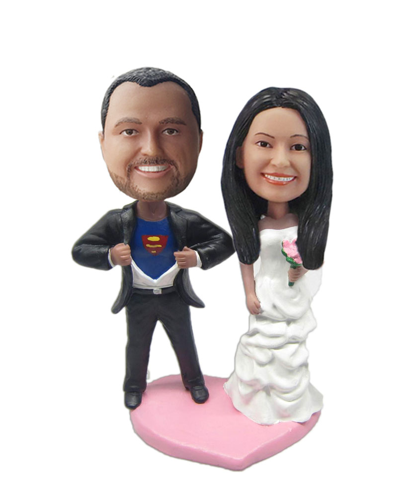 Superman And Wife bobblehead Doll W663