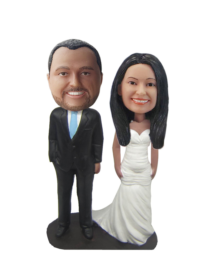 Customized couple bobbleheads gift for parents W683