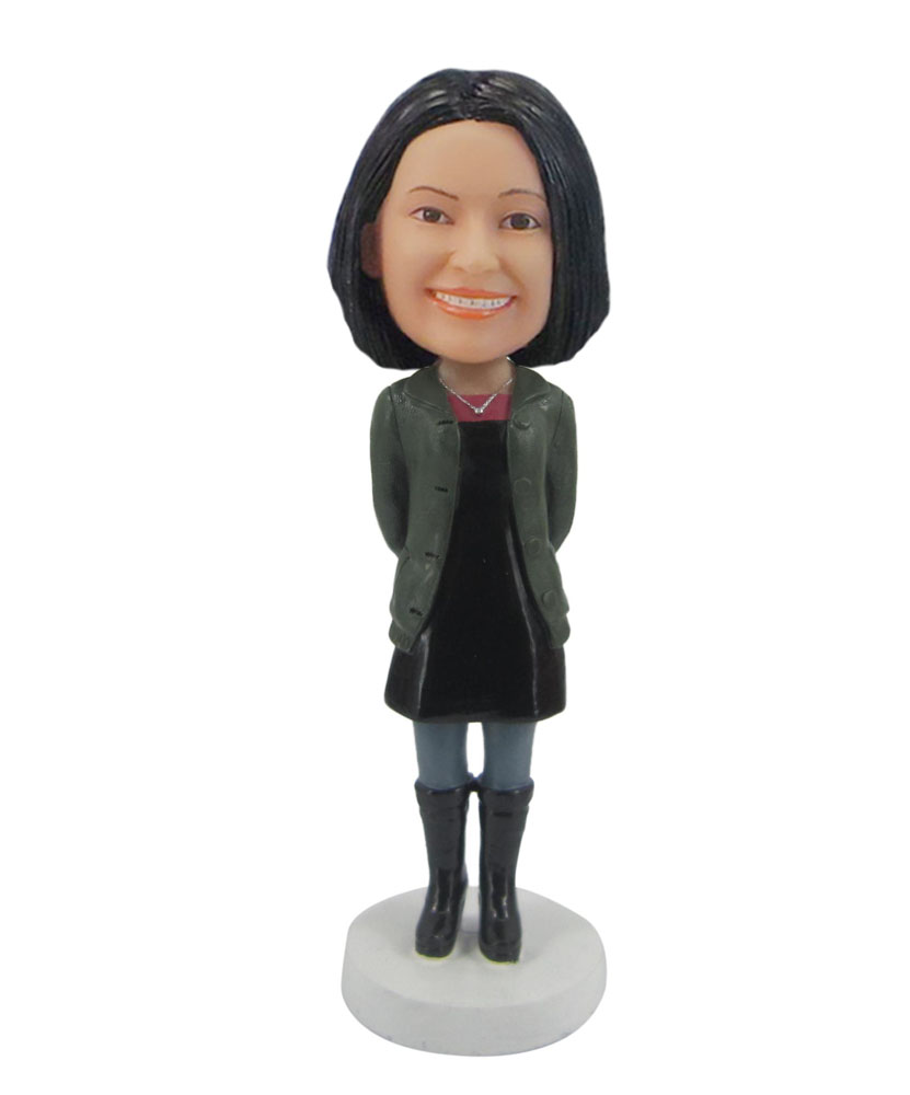 Female with black boots personal bobbleheads F102