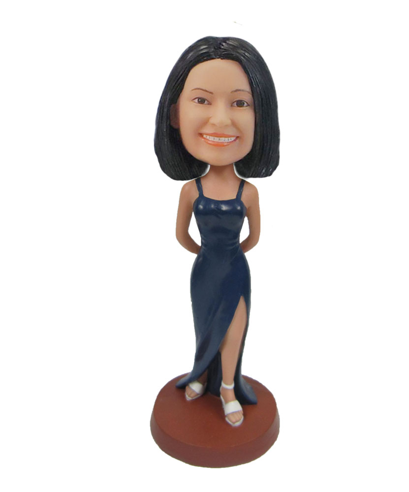 Female Long Dress Party queen bobbleheads F105
