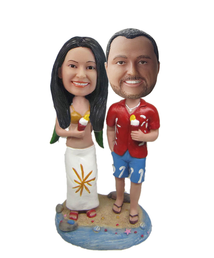 Beach lover bobblehead doll W689