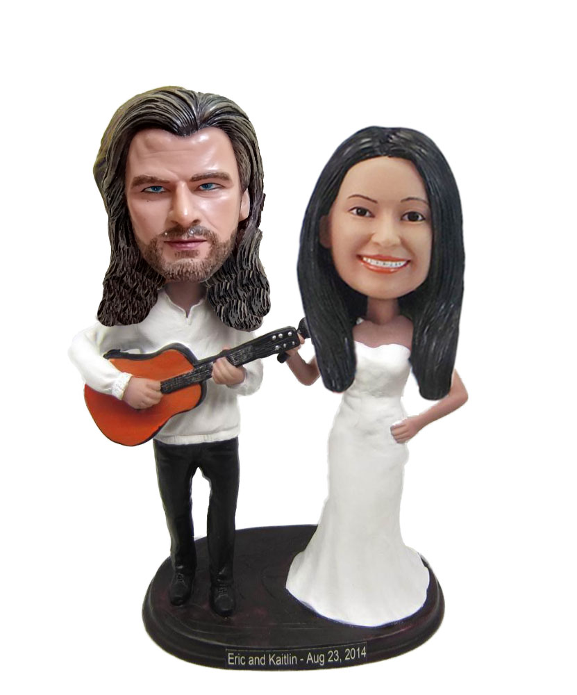 Couple Band Wedding bobblehead Doll W712