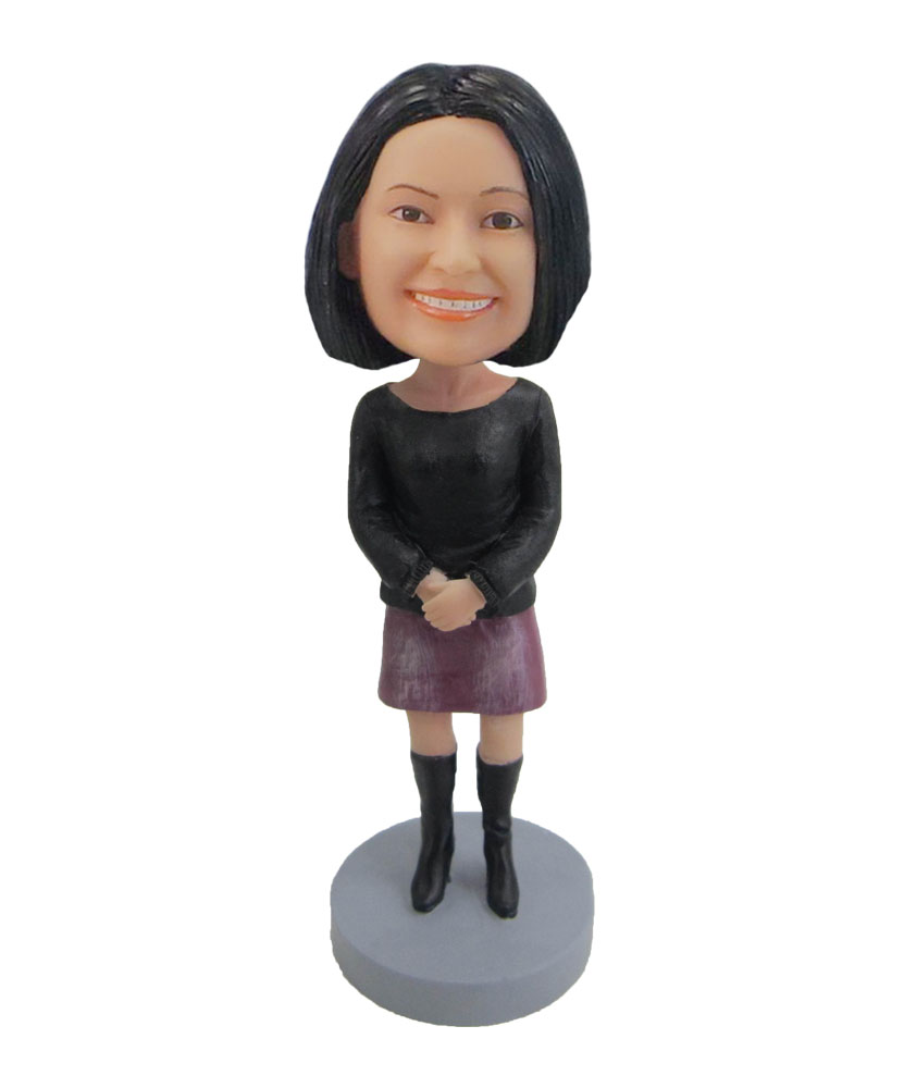 bobble head dolls of leusure woman F54