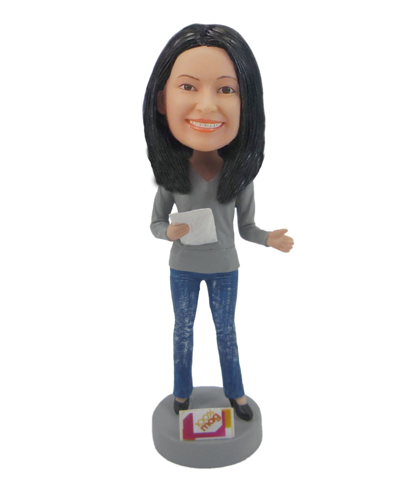 Female Teacher Speech girl bobblehead doll F117