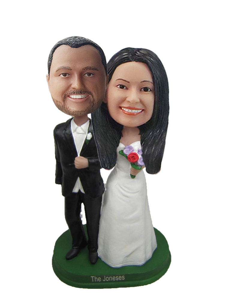 Fancy Wedding Couple bobblehead Doll W740