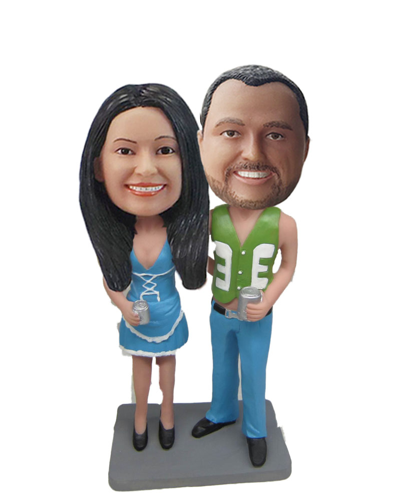 Cowboy Couple bobblehead Doll W774