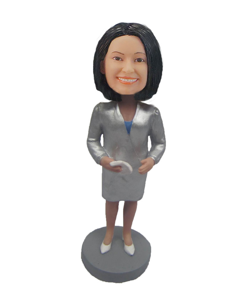 Female Teacher art work Technological sense bobblehead F130