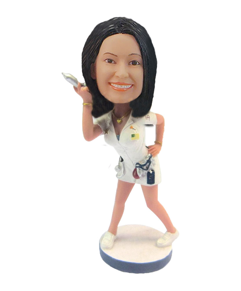 Sexy female doctor cosplay bobblehead doll F132