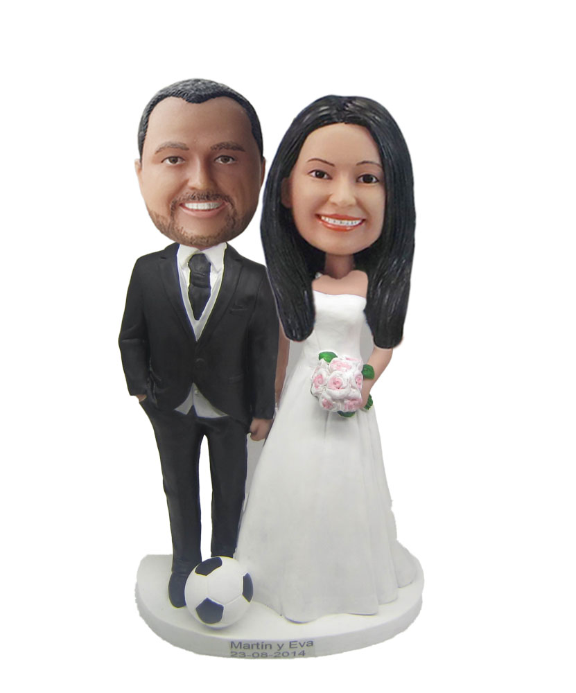 Customized wedding cake toppers  W470