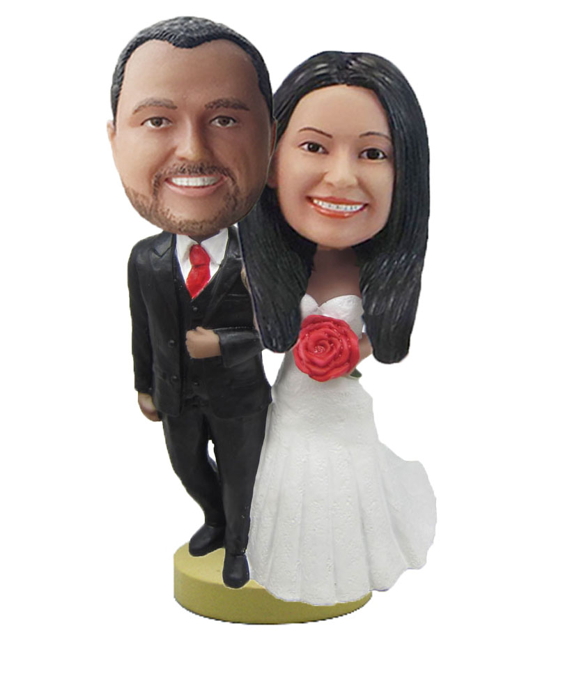 Classic Wedding Couple bobblehead Doll W734