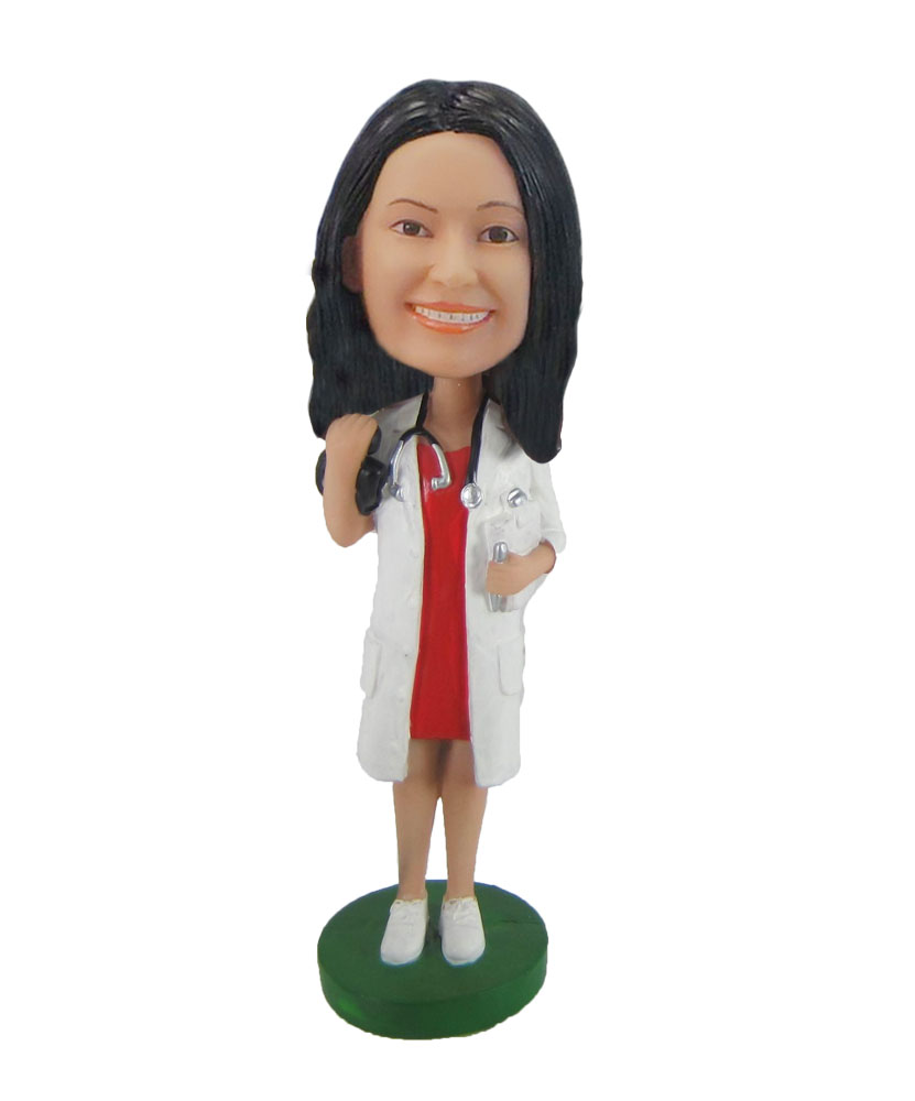 Female Doctor with Stethoscope Bobbleheads F667