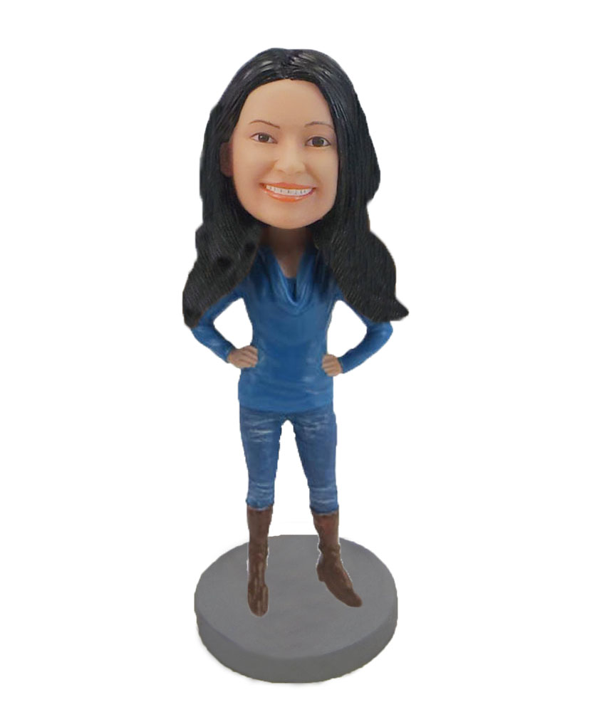 Mrs. incredible cool woman bobblehead doll F692