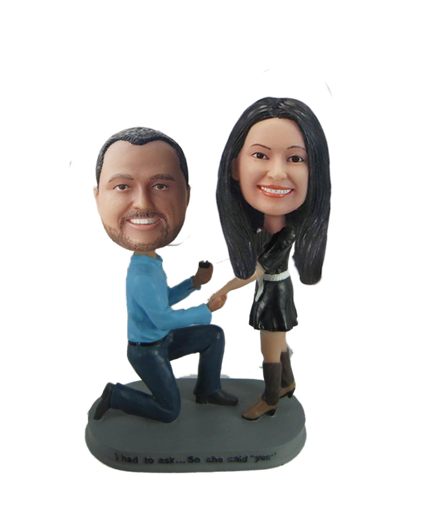 Wedding Proposal bobblehead Doll w849