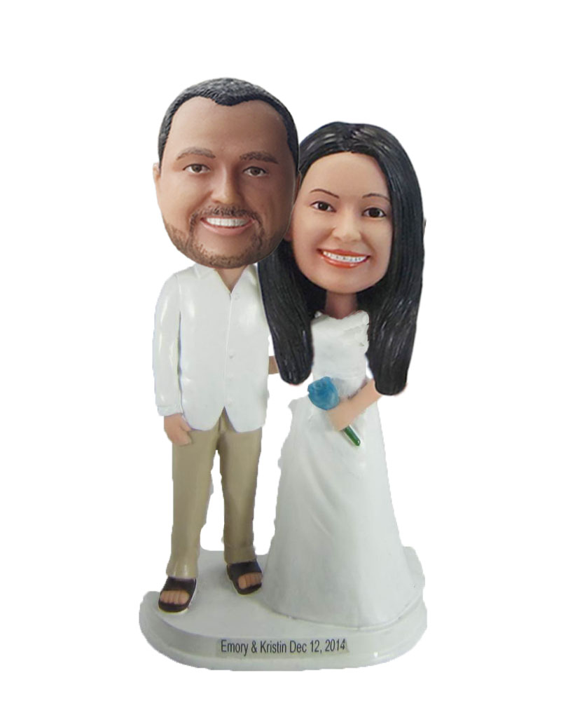 Mr. & Mrs. Met wedding bobbleheads W903