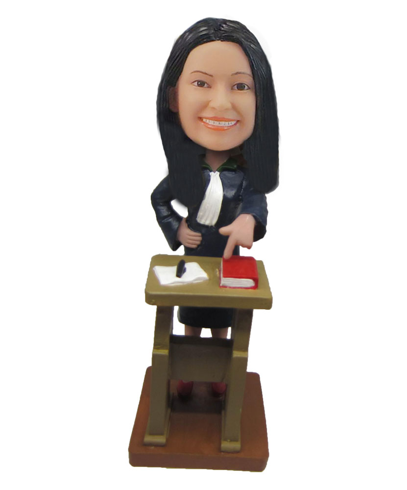 Female Lawer rare doll solar bobble head F794