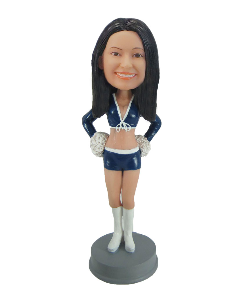 Cheerleader Car model bobblehead doll F845