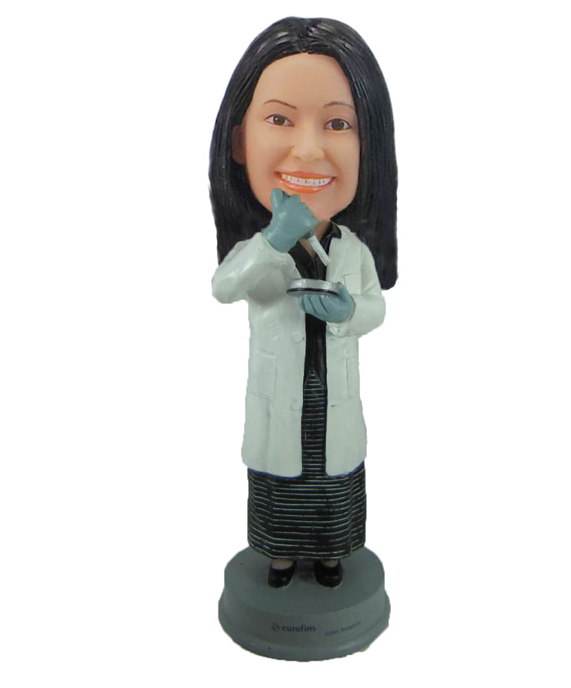 Female Chemical experimenter bobblehead doll F862
