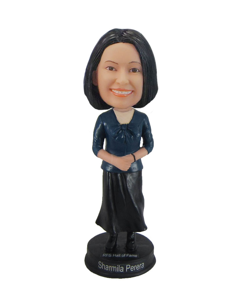 Mother in Dark full dress autumn bobblehead F985