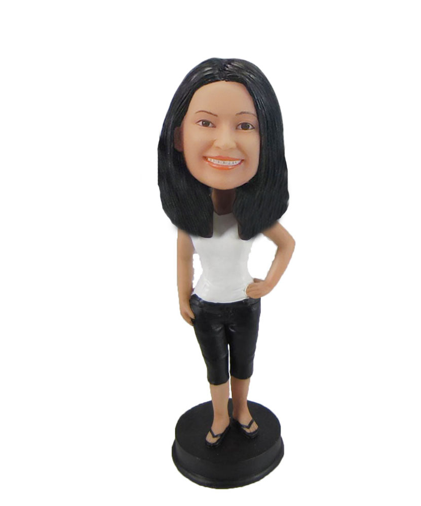 Female casual beautiful bobbleheads CUTE Girl personalized F1018