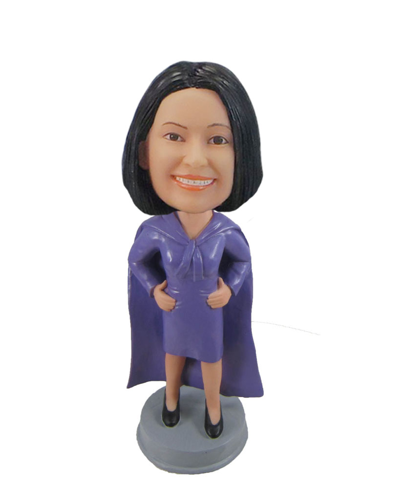 Personalized Female boss bobbleheads super fabulous female F1082
