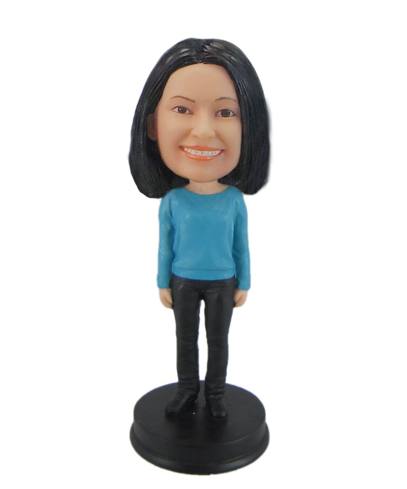 Bobbleheads custom T shirt female bobblehead F7483