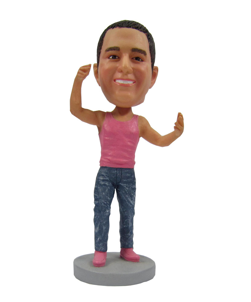 Casual pink tops bobbleheads 206