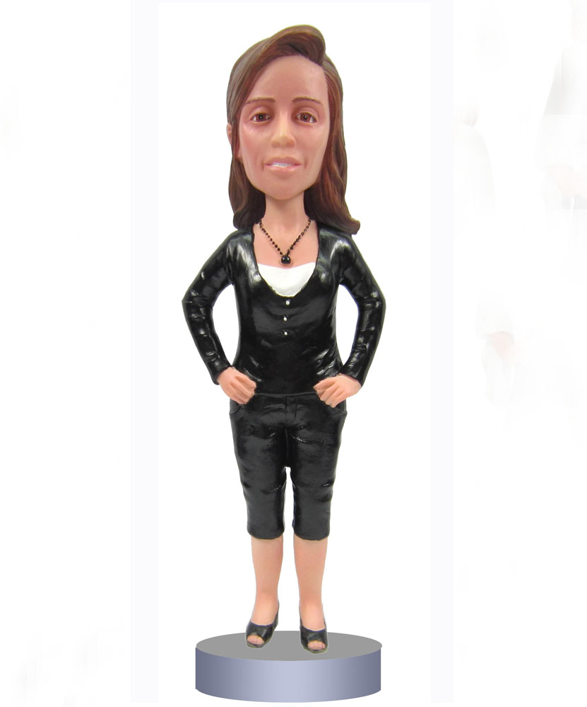 Create Bobblehead of Black Top and Bottom G009