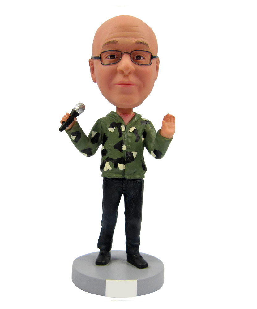 Casual Male Singer Personal Bobblehead Doll B247