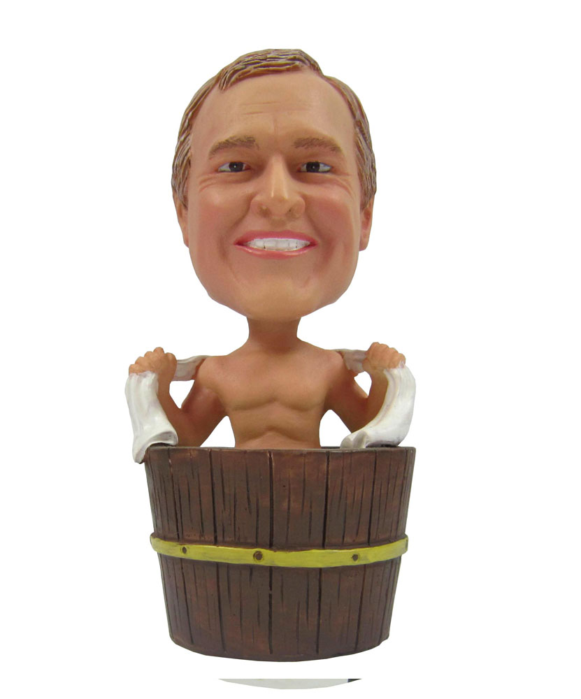 Male In the bath Humorous Personalized Bobbleheads