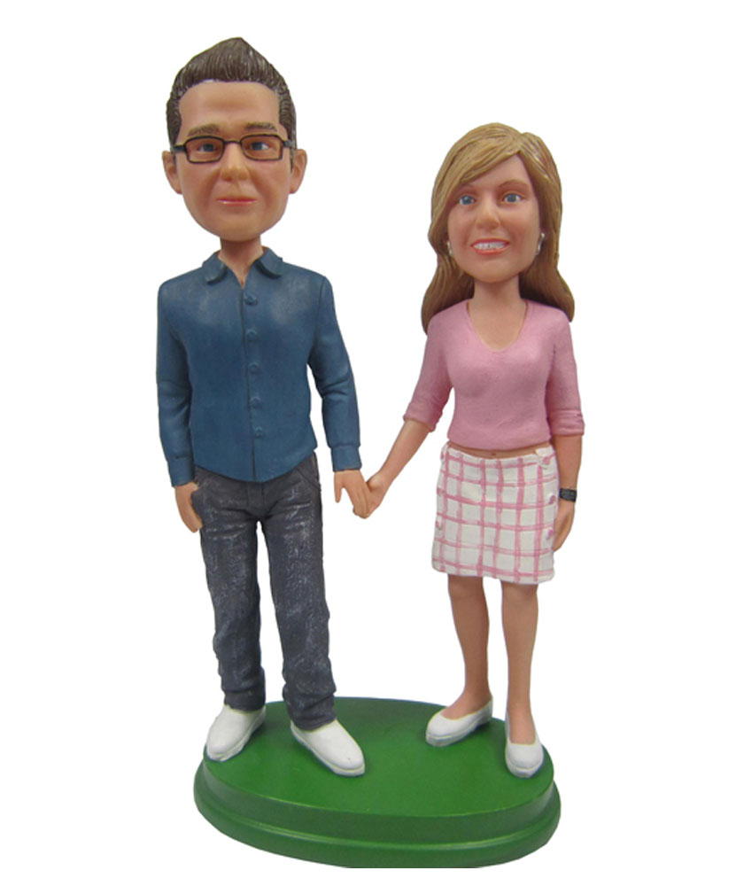 Holding Hands Man&Woman Best Custom Bobblehead