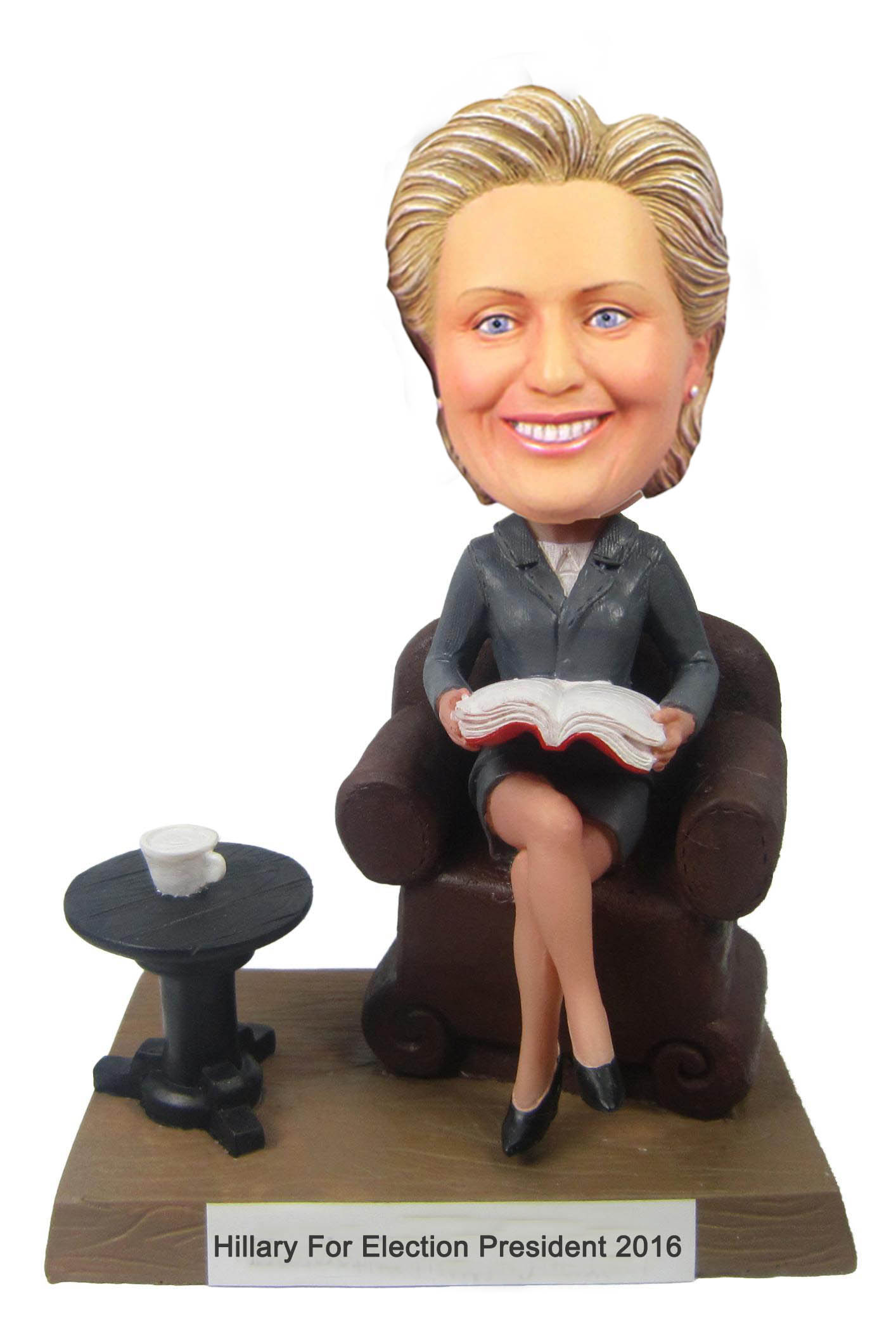 Hillary for election president 2016: Hillary clinton polymer clay dolls