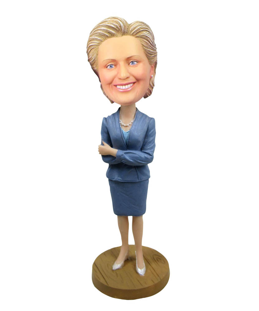 Custom office cocktail dress hillary special bobbleheads
