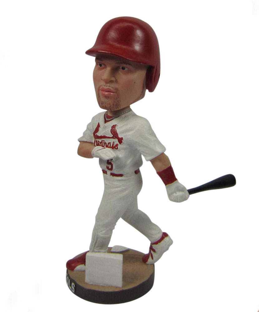 baseball bobbleheads with white dress G045