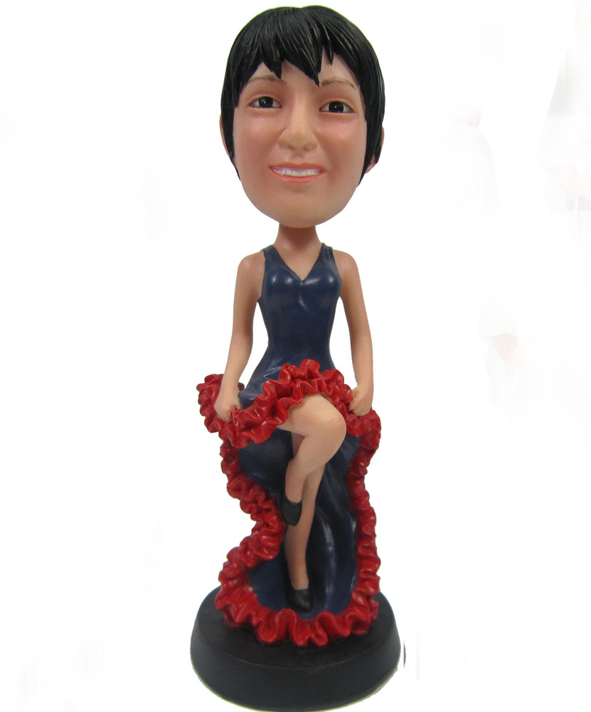 Best bobbleheads with beautiful evening dress G099