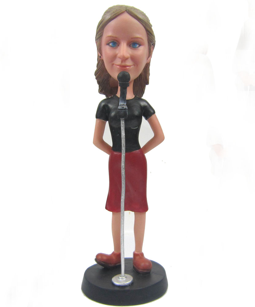 Customizable bobbleheads of female singer G109
