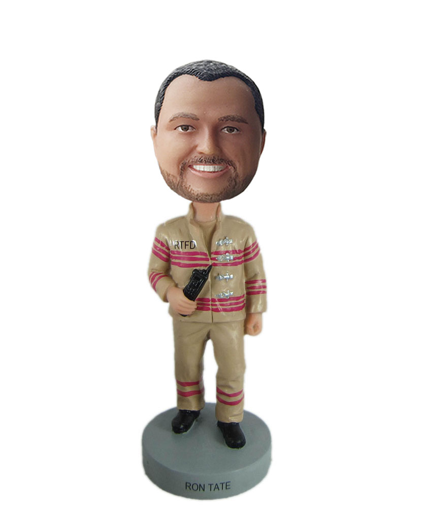 Custom bobblehead dolls of construction worker