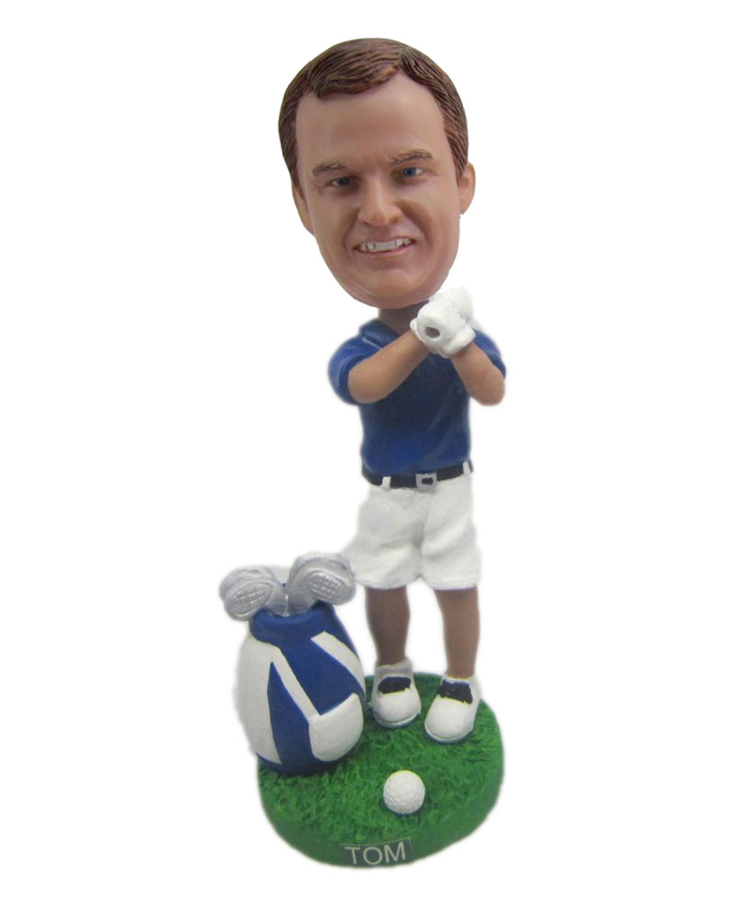 Golfing male sports bobble heads B307-1